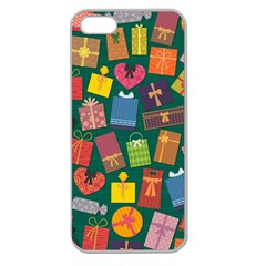 Presents Gifts Background Colorful Apple Seamless Iphone 5 Case (clear)
