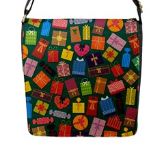 Presents Gifts Background Colorful Flap Messenger Bag (l)