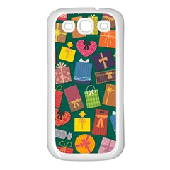 Presents Gifts Background Colorful Samsung Galaxy S3 Back Case (white)