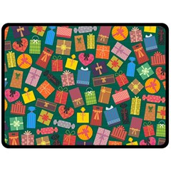 Presents Gifts Background Colorful Double Sided Fleece Blanket (large)