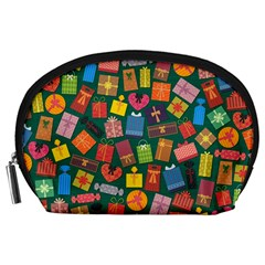 Presents Gifts Background Colorful Accessory Pouches (large)