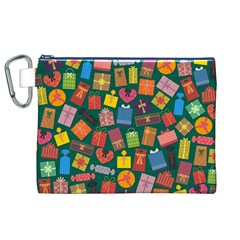 Presents Gifts Background Colorful Canvas Cosmetic Bag (xl)