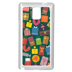 Presents Gifts Background Colorful Samsung Galaxy Note 4 Case (white)