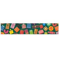 Presents Gifts Background Colorful Flano Scarf (Large)