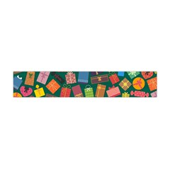 Presents Gifts Background Colorful Flano Scarf (Mini)
