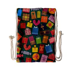 Presents Gifts Background Colorful Drawstring Bag (small)