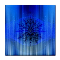 Background Christmas Star Tile Coasters