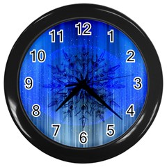 Background Christmas Star Wall Clocks (Black)
