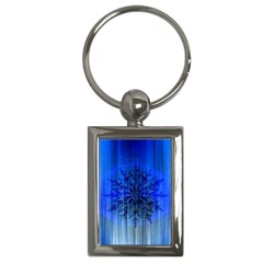 Background Christmas Star Key Chains (rectangle)
