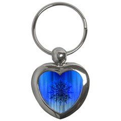 Background Christmas Star Key Chains (Heart)