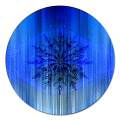 Background Christmas Star Magnet 5  (Round)