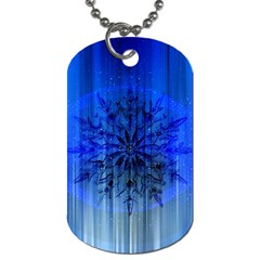 Background Christmas Star Dog Tag (one Side)