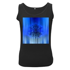 Background Christmas Star Women s Black Tank Top