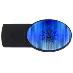 Background Christmas Star USB Flash Drive Oval (4 GB)