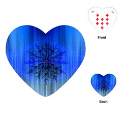 Background Christmas Star Playing Cards (heart)