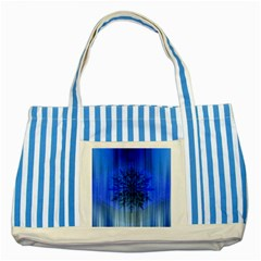 Background Christmas Star Striped Blue Tote Bag