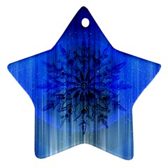 Background Christmas Star Star Ornament (two Sides)