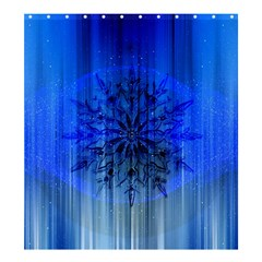Background Christmas Star Shower Curtain 66  x 72  (Large)