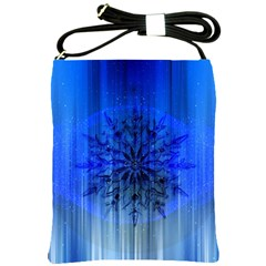 Background Christmas Star Shoulder Sling Bags