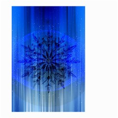 Background Christmas Star Small Garden Flag (two Sides)