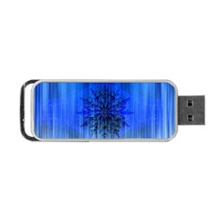 Background Christmas Star Portable Usb Flash (one Side)