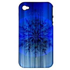 Background Christmas Star Apple iPhone 4/4S Hardshell Case (PC+Silicone)