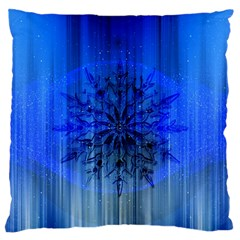 Background Christmas Star Large Flano Cushion Case (Two Sides)