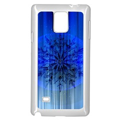 Background Christmas Star Samsung Galaxy Note 4 Case (white)