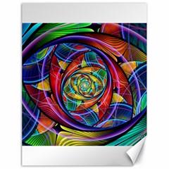 Eye of the Rainbow Canvas 18  x 24