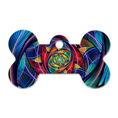 Eye of the Rainbow Dog Tag Bone (One Side)