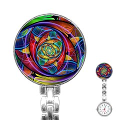 Eye of the Rainbow Stainless Steel Nurses Watch