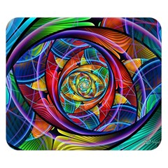 Eye of the Rainbow Double Sided Flano Blanket (Small)