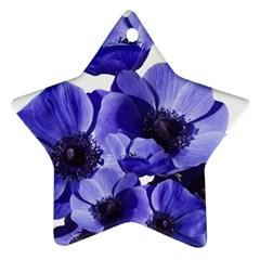 Poppy Blossom Bloom Summer Ornament (star)