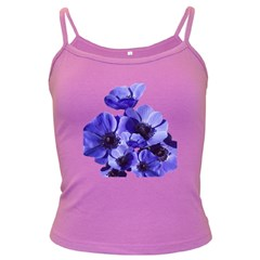 Poppy Blossom Bloom Summer Dark Spaghetti Tank