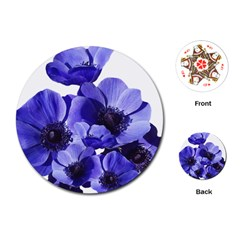 Poppy Blossom Bloom Summer Playing Cards (round)
