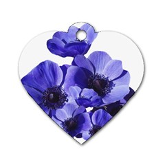 Poppy Blossom Bloom Summer Dog Tag Heart (Two Sides)