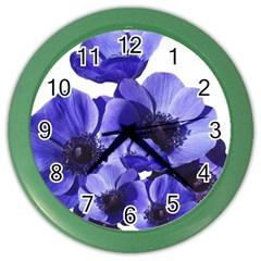 Poppy Blossom Bloom Summer Color Wall Clocks