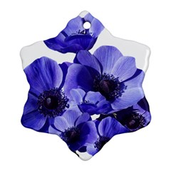 Poppy Blossom Bloom Summer Snowflake Ornament (two Sides)
