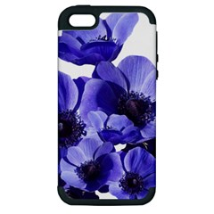 Poppy Blossom Bloom Summer Apple Iphone 5 Hardshell Case (pc+silicone)
