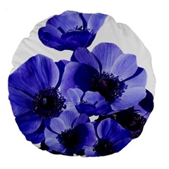 Poppy Blossom Bloom Summer Large 18  Premium Round Cushions