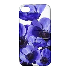 Poppy Blossom Bloom Summer Apple iPhone 4/4S Hardshell Case with Stand