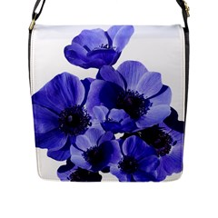 Poppy Blossom Bloom Summer Flap Messenger Bag (L)