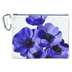 Poppy Blossom Bloom Summer Canvas Cosmetic Bag (xxl)