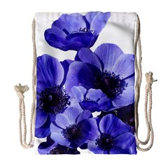 Poppy Blossom Bloom Summer Drawstring Bag (large)