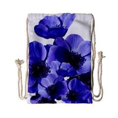 Poppy Blossom Bloom Summer Drawstring Bag (small)