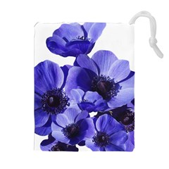 Poppy Blossom Bloom Summer Drawstring Pouches (extra Large)