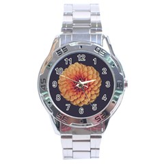 Art Beautiful Bloom Blossom Bright Stainless Steel Analogue Watch