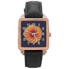 Art Beautiful Bloom Blossom Bright Rose Gold Leather Watch