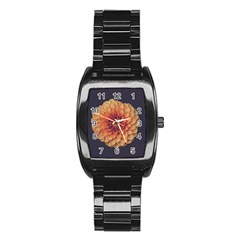 Art Beautiful Bloom Blossom Bright Stainless Steel Barrel Watch