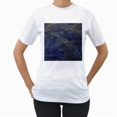 Textures Sea Blue Water Ocean Women s T Shirt (white) (two Sided)